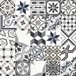 articima zementfliesen patchwork schwarz weiss grau